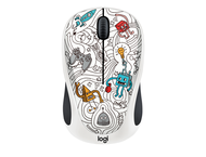 Мишки Logitech M238 Doodle Collection, TECHIE WHITE