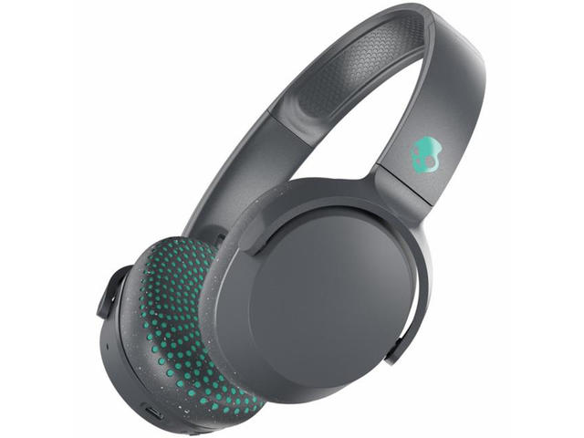 Слушалки SkullCandy Riff Wireless, в сиво-зелено